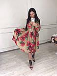 Женское красивое платье-midi с цветочным принтом (в расцветках), фото 10