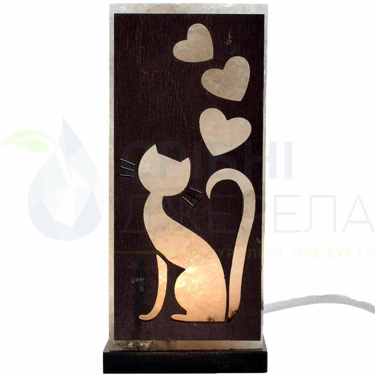 Соляна лампа Котик, 2 кг