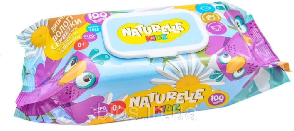 Вологі серветки дитячі NATURELLE kidz (100шт)