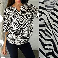 Женская блузка с принтом зебра, с 48-58 размер, фото 1
