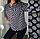 Женская блузка с принтом зебра, с 48-58 размер, фото 2