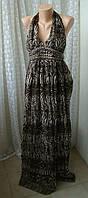 Платье женское в пол сарафан легкий лето макси H F р.42-44