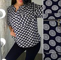 Женская блузка с принтом, с 48-58 размер, фото 1