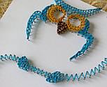 Блакитна Сова пано в техніці стрінг-арт String Art, фото 9
