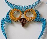 Блакитна Сова пано в техніці стрінг-арт String Art, фото 7