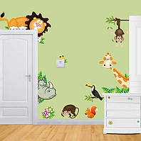 """Наклейки на стену в детскую """"Джунгли"""""""