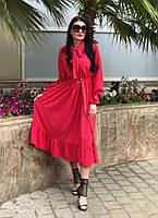 7d429bc73e2 Женское шикарное платье-midi с в горошек (в расцветках)