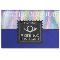17105148 Альбом для акварели Watercolour заготовка для открыток А6 (10,5х14,8 см) 300 г/м.кв. 20 листов склейка Fabriano Италия