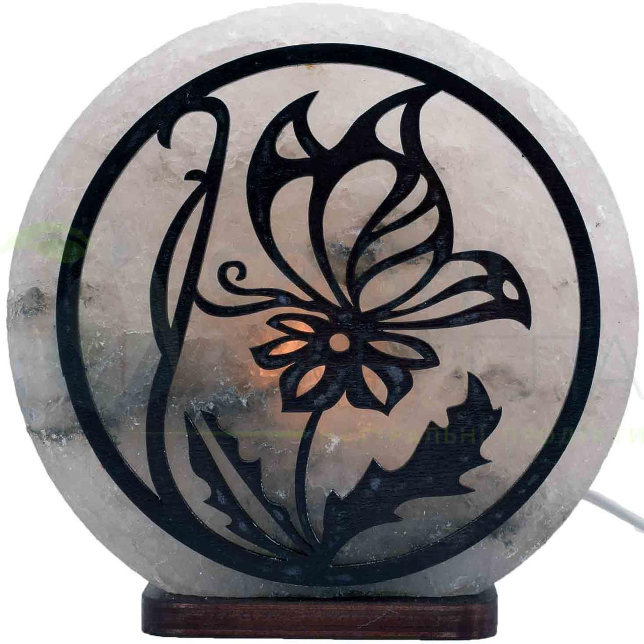 Соляна лампа Метелик на квітці, 3-4 кг