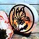 Соляна лампа Метелик на квітці, 3-4 кг, фото 2