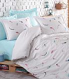 Комплект постельного белья сатин люкс c вышивкой евро Dantela Vita Embroidered Oriel, фото 2