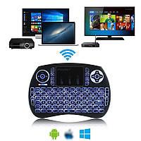 Беспроводной пульт-клавиатура ipazzport kp-810-accu-RU на аккумуляторе с подсветкой для ТВ боксов