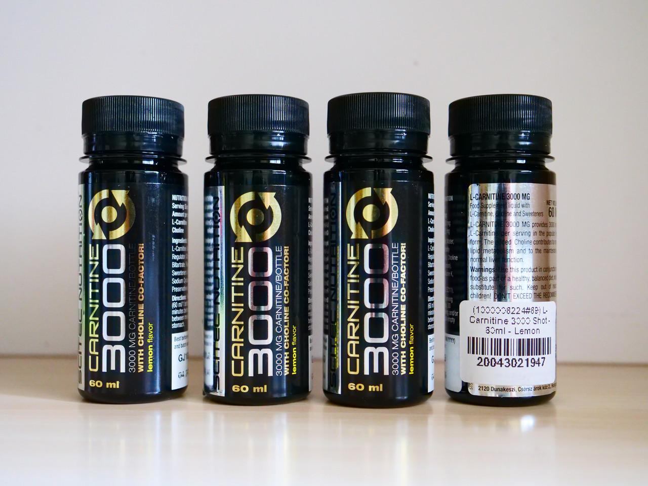 Жиросжигатель карнитин для похудения Scitec Nutrition L-Carnitine 3000 Shot (60ml)