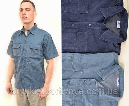 Рубашка мужская джинсовая с коротким рукавом, фото 2