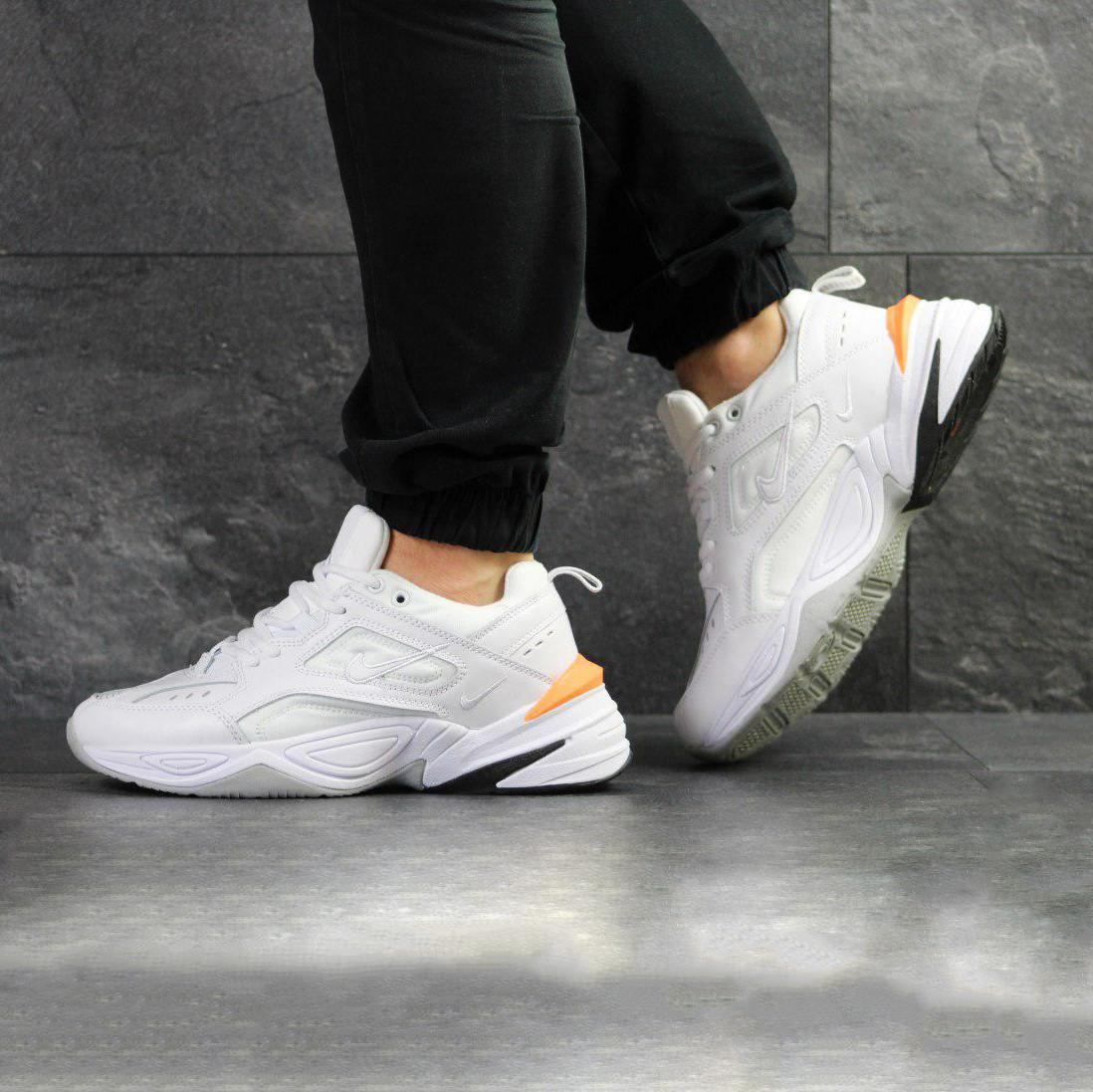 7a9f0f1b Мужские кроссовки в стиле Nike M2K Tekno (бело/оранжевые) - купить ...