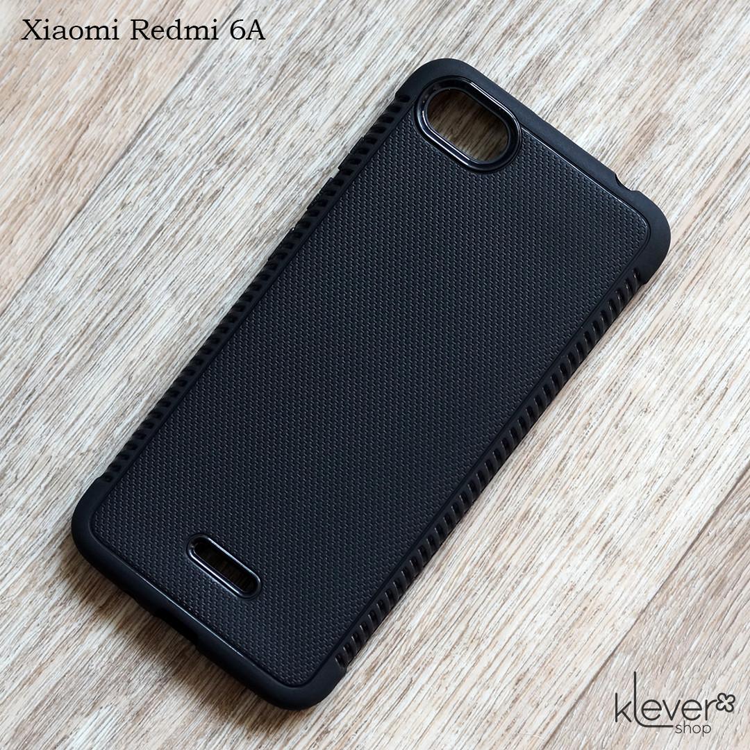 Матовый силиконовый чехол для Xiaomi Redmi 6A (черный)