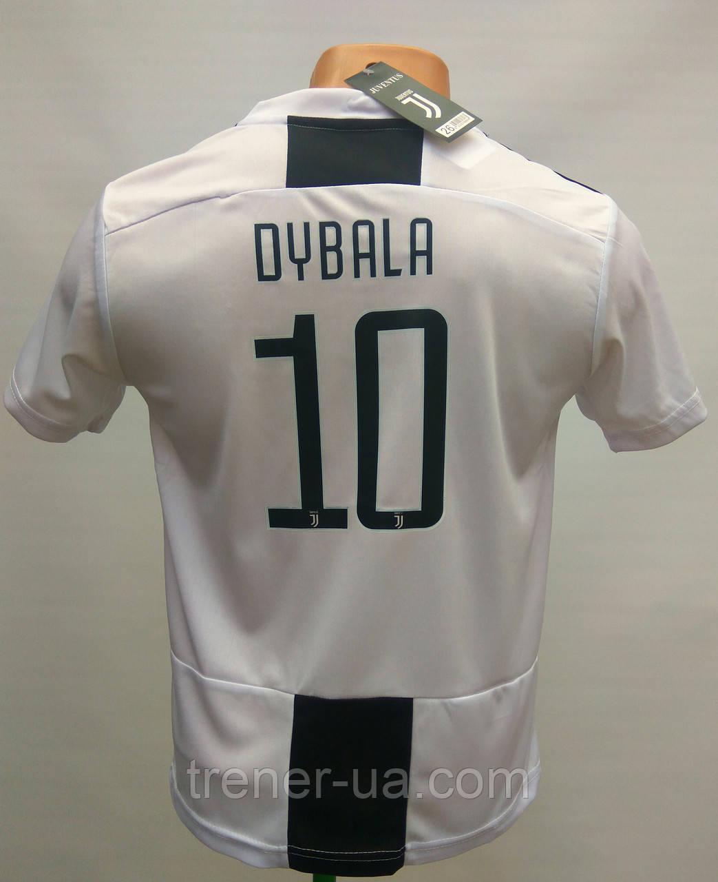 Футбольная форма детская/Juventus Dybala чёрно-белая сезон 2019/Ювентус Дибала/футбол
