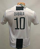 Футбольная форма детская Juventus Dybala чёрно-белая сезон 2018-19