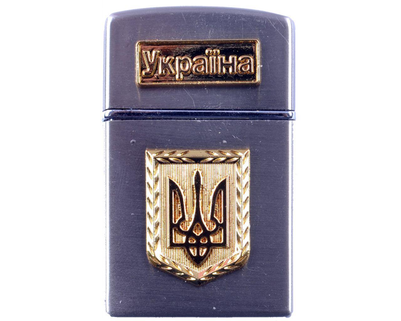 Зажигалка карманная Украина (турбо пламя) №4525-1