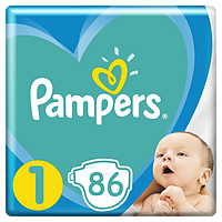 Подгузники Pampers New Baby Dry 1 (2-5 кг) Jumbo Pack,86 шт.