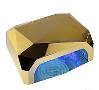 🔝 Лампа для маникюра,Золото, 36 Вт., Beauty nail CCF + LED, сушка для ногтей, led лампа для ногтей | 🎁%🚚