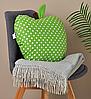 Подушка декоративная Яблоко 42х47см салатовый горох