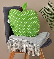 Подушка декоративная Яблоко 42х47см салатовый горох, фото 1