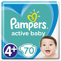 Подгузники Pampers Active Baby Maxi Plus 4+ (9-16 кг) Giant Pack, 70 шт., фото 1