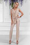 Женский стильный брючный костюм:блуза и брюки (расцветки), фото 2