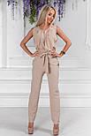 Женский стильный брючный костюм:блуза и брюки (расцветки), фото 6