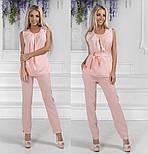 Женский стильный брючный костюм:блуза и брюки (расцветки), фото 4