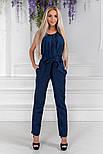 Женский стильный брючный костюм:блуза и брюки (расцветки), фото 9