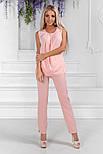 Женский стильный брючный костюм:блуза и брюки (расцветки), фото 10