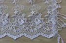 Шарф білий фатиновий ажурний святковий 150-9, фото 2