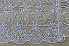 Шарф білий фатиновий ажурний святковий 150-10, фото 2