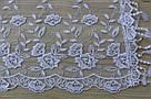 Шарф білий фатиновий ажурний святковий 150-12, фото 2