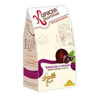 """Шоколадные конфеты с черносливом и орехами """"Корисна Кондитерська"""" без сахара, 150 г"""