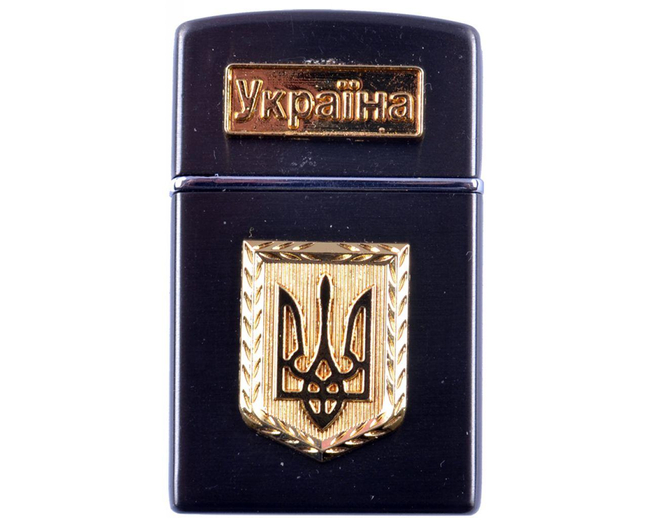 Зажигалка карманная Украина (турбо пламя) №4525-2