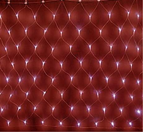 СВІТЛОДІОДНА ГІРЛЯНДА МЕРЕЖА 2*2м, колір червоний