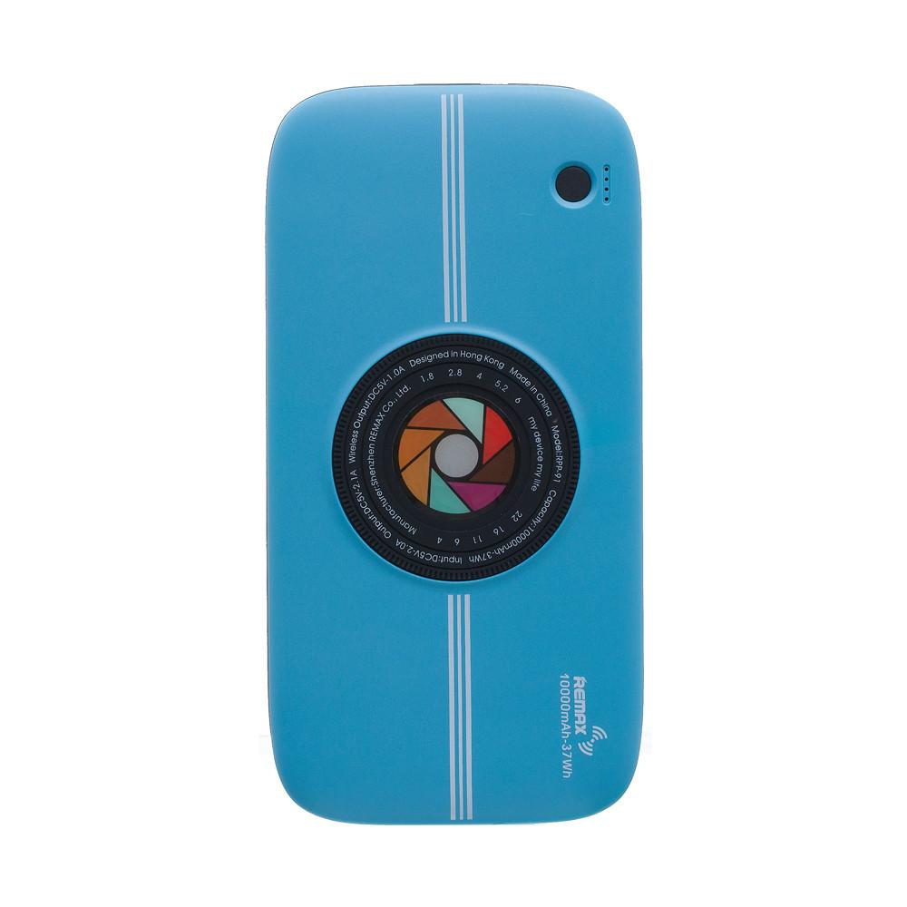 Портативное зарядное устройство (Беспр. зар.) REMAX Power Bank Wireless Series RPP-91 10000 mAh Blue