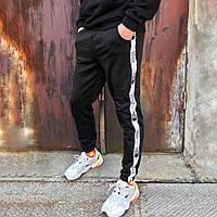 Спортивные штаны в стиле The North Face line черные, фото 1