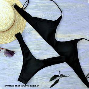 Купальник женский раздельный черный