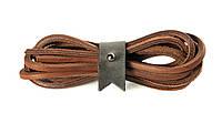 Шнурки кожаные 3,5*1000мм (коричневый)  , фото 1