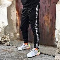 Спортивные штаны в стиле Vans line черные