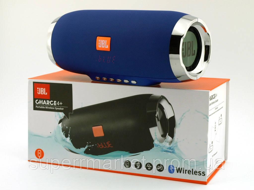 JBL Charge 4+ E4 plus 20W реплика, портативная колонка с Bluetooth FM MP3, синяя