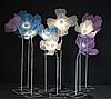 Гигантский металлический цветок Noblest Art комплект из 3-х цветков Фантазийный 200 см (LY3109)