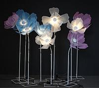 Гігантський металевий квітка Noblest Art комплект з 3-х квіток Фантазійний 200 см (LY3109), фото 1