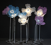 Гигантский металлический цветок Noblest Art комплект из 3-х цветков Фантазийный 200 см (LY3109), фото 1
