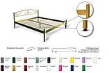 Кровать металлическая Розана - 1 / Rosana - 1 двухспальная 160 (Метакам) 1670х2100х1010 мм , фото 7