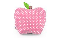 Подушка декоративная Яблоко 42х47см розовая горох
